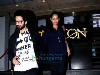 Shahid Kapoor and Mira Rajput spotted at PVR Icon in Andheri post watching 'Gold'