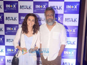Taapsee Pannu and Anubhav Sinha snapped visiting INOX