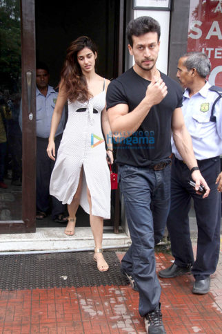 Tiger Shroff and Disha Patani spotted at Bastian in Bandra