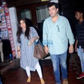 Vidya Balan and Siddharth Roy Kapur spotted at Bastian in Bandra