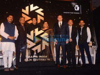 Vidya Balan snapped attending the Malta India Film Festival 2018