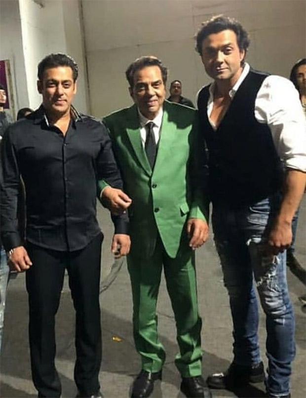 Yamla Pagla Deewana Phir Se: Father - son duo Dharmendra, Bobby Deol shoot with Salman Khan for Dus Ka Dum