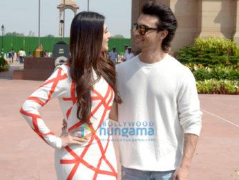Aayush Sharma and Warina Husain spotted at India Gate promoting LoveYatri