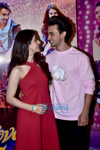 Aayush Sharma and Warina Hussain snapped during LoveYatri promotions