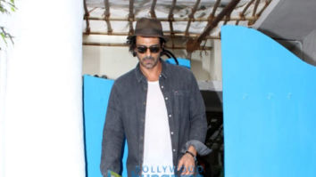 Arjun Rampal snapped at Olive in Bandra