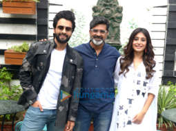 Cast of the film Mitron snapped at a photoshoot in Delhi