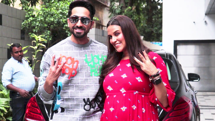 Neha Dhupia & Ayushmann Khurrana SPOTTED shooting for #NoFilterNeha Season 3
