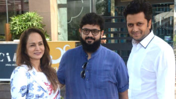 Riteish Deshmukh, Smita Thackeray and her son snapped at BKC