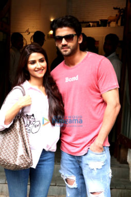 Salman Khan's soon to be launched pair Zaheer Iqbal & Pranutan Bahl snapped in Mumbai