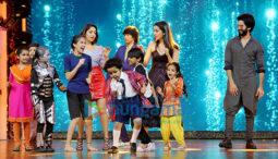 Shahid Kapoor, Shraddha Kapoor and Yami Gautam snapped promoting 'Batti Gul Meter Chalu' on sets of India's Best Dramebaaz