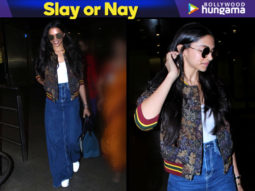 Slay or Nay - Deepika Padukone in Sandro Paris jacket over her basic look at the airport