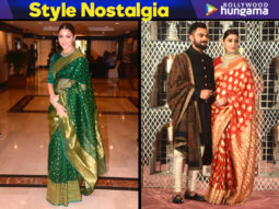 Style Nostalgia - Anushka Sharma in a Benarasi saree for the Priyadarshini Global Awards