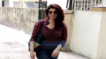 Twinkle Khanna snapped outside a clinic