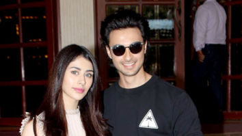 Warina Hussain and Aayush Sharma snapped 91.1 FM Radio City for Loveratri promotions