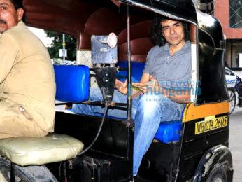 Imtiaz Ali snapped taking in a rickshaw ride in Juhu