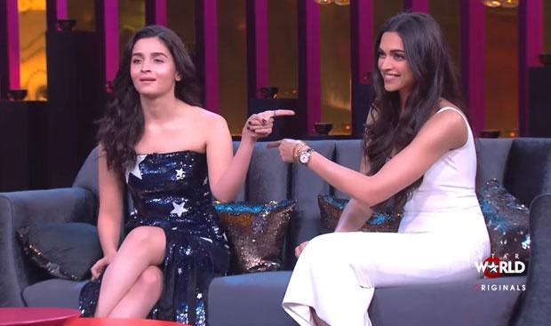 #KoffeeWithKaran: Deepika Padukone and Alia Bhatt discuss RANBIR KAPOOR in the first episode of Karan Johar's show