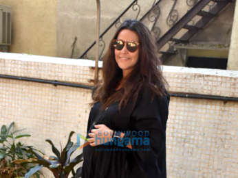 Neha Dhupia spotted after a salon session in Bandra