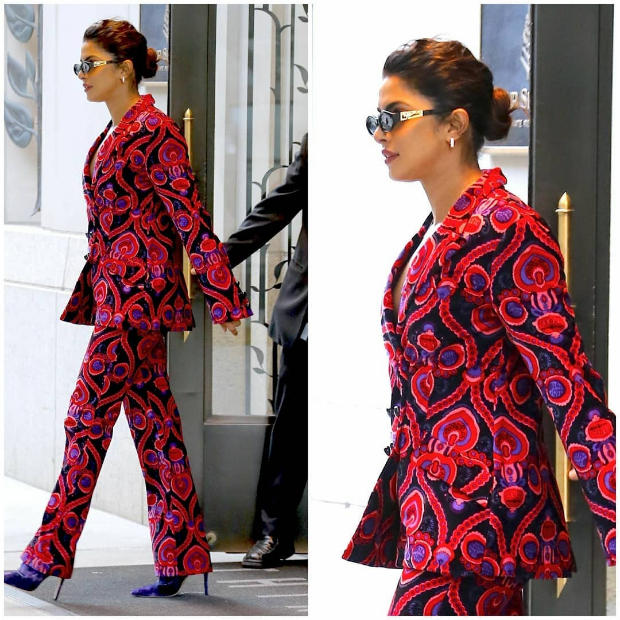 Priyanka Chopra in Anna Sui while in NYC (2)