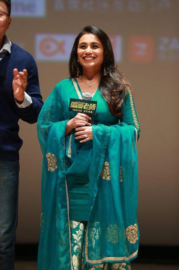 Rani Mukerji gets a standing ovation in China for Hichki!