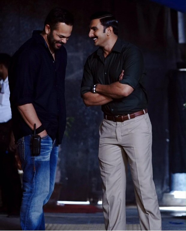 Ranveer Singh and Rohit Shetty are the new bros in town in this candid photo on Simmba set