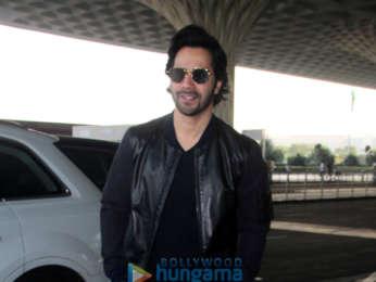 Varun Dhawan, Manushi Chhillar and Kunal Khemu snapped at the airport