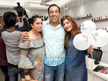 Vindu Dara Singh and Dina Singh snapped at the launch of Bluesky Nail Academy