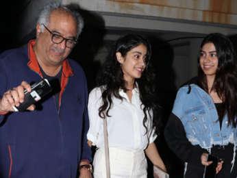 Janhvi Kapoor, Khushi Kapoor & others Spotted at Boney Kapoor Grand Birthday Bash