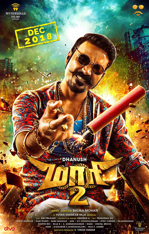 Dhanush starrer Maari 2 look unveiled and audiences are waiting to see the 'Naughtiest Don' in action