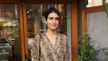 Fatima Sana Shaikh snapped at Sequel in Bandra