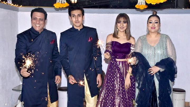 Govinda and family celebrate Diwali