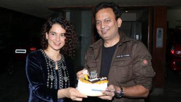 Kangana Ranaut celebrates Kamal Jain's birthday at his office in Juhu