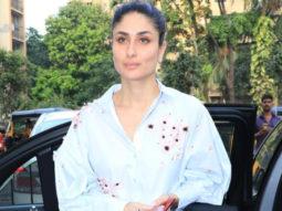 Kareena Kapoor Khan spotted after a dubbing session at Sound Vision in Varsova
