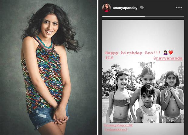 Ananya Panday wishes old friend Navya Naveli Nanda, shares UNSEEN childhood pic featuring Suhana Khan, Shanaya Kapoor