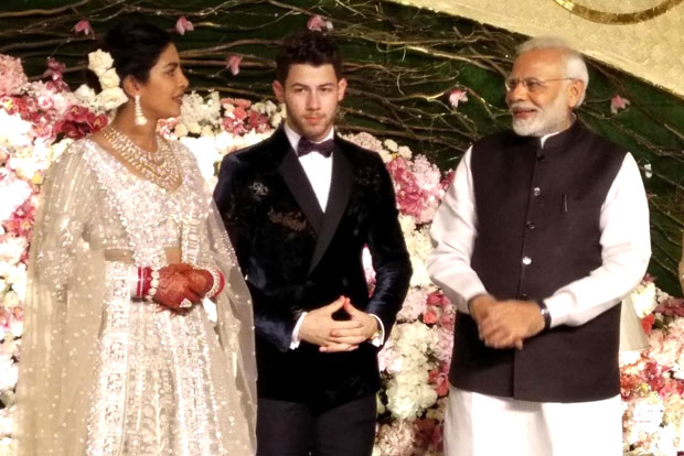 Indian PM Modi attends Nick, Priyankas wedding reception