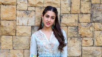 Sara Ali Khan snapped during media interactions for Kedarnath at JW Marriott in Juhu