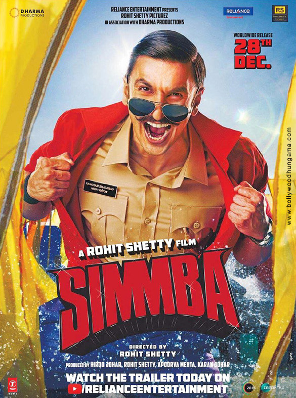 SIMMBA (2018) con RANVEER SINGH + Jukebox + Sub. Español + Online Simmba-001