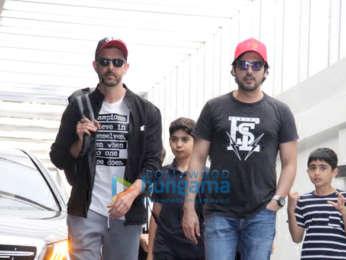 Photos: Hrithik Roshan, Zayed Khan and Madhuri Dixit spotted at Hakkasan in Bandra