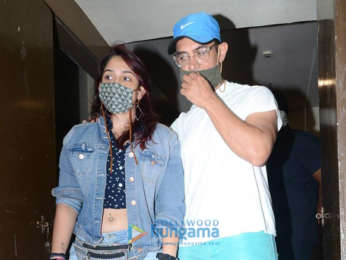 Photos: Aamir Khan and Ira Khan snapped at PVR in Juhu