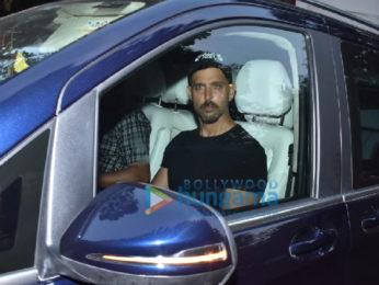 Photos: Hrithik Roshan snapped at Sanjay Khan's house in Juhu