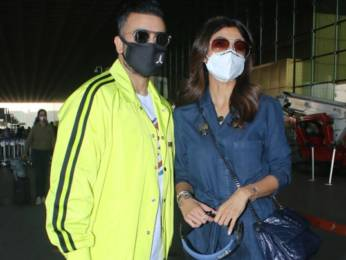 Shilpa Shetty and Raj Kundra spotted at Airport