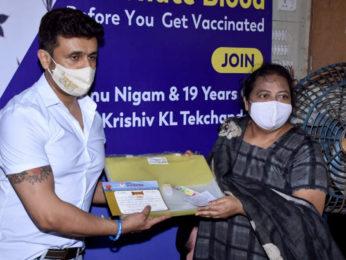 Sonu Nigam inaugurates blood camp organised by Ameet Satam Adarsh Foundation